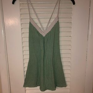Poetry green and white striped tank